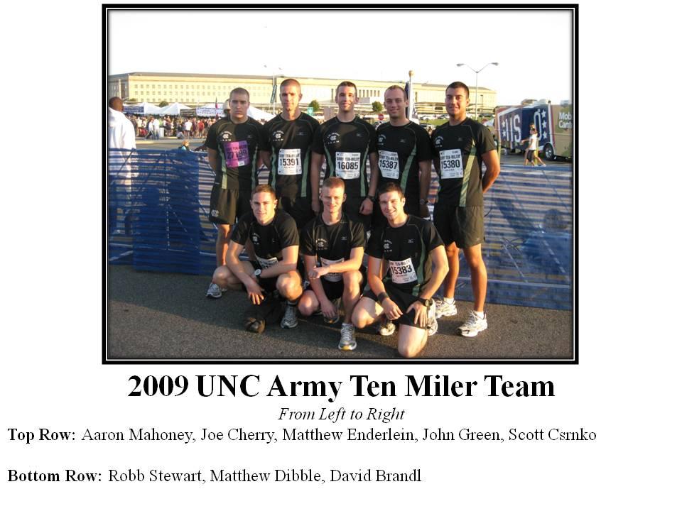 Army Ten Miler Team Unc Army Rotc