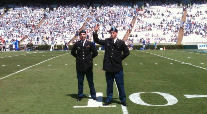 c/McGee and c/Reaves honored at a Football game