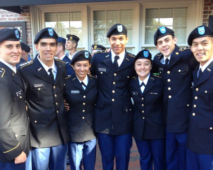 Cadets at Veterans Day Ceremony